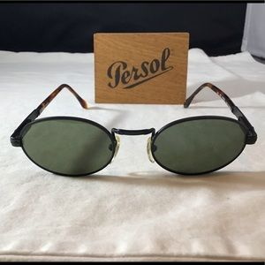 Vintage Persol Sunny 142 Black Metal sunglass